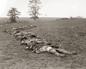 Confederate dead at Antietam, 1862, photo by Alexander Gardner (National Park Service)