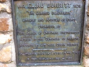 The Plaque in Honor of Burritt