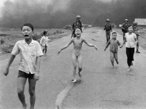 Nick Ut's famous photo of children fleeing napalm in Vietnam (NPR)