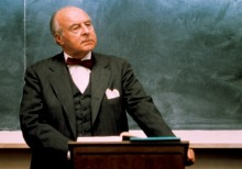 "Best to avoid a skull full of mush when this man is teaching (John Houseman in ""The Paper Chase"")"
