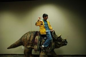 Creationism is bunk, though the idea of riding a dinosaur is cool
