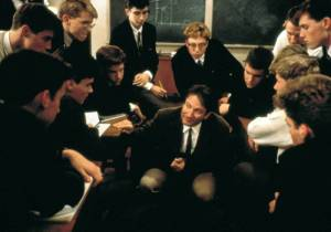 "Robin Williams in ""Dead Poets Society"""