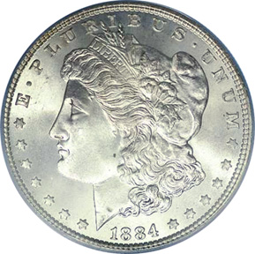 At least coins were more attractive in 1884 (Morgan silver dollar)
