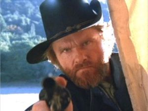 "Bill McKinney as Captain Terrill in ""The Outlaw Josey Wales"""