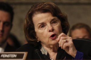 Senator Dianne Feinstein, finally angry at the CIA because they're spying on her