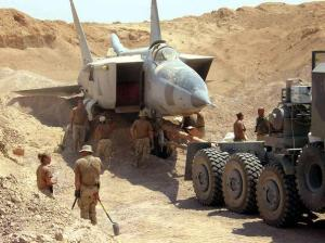 The vaunted Iraqi air force, buried in the sand