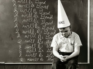 Nowadays, it's not the students who should be wearing the dunce caps