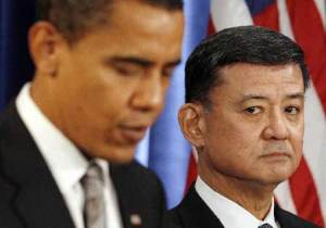 I hired him, now I'm firing him.  Sinseki in 2008 when Obama announced his appointment as secretary for the VA