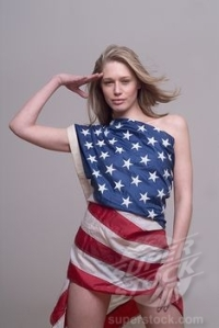 It's never a good idea to wrap yourself in the flag, no matter how fetching you are (Courtesy of Superstock)