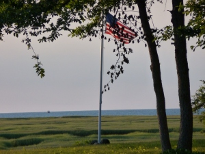 Another shot of Old Glory -- from sea to shining sea