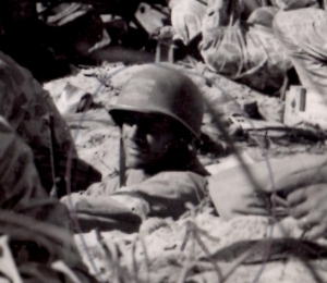 Lieutenant Alexander Bonnyman Jr. on Tarawa
