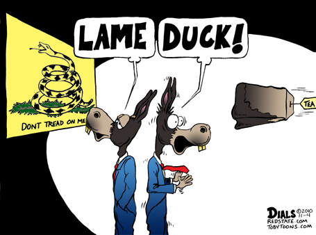 Lame duck, indeed.