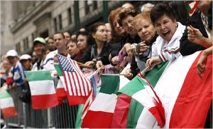 Columbus Day Parade, a traditional celebration of Italian heritage