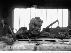 Jarecke's photo of a dead Iraqi was considered too disturbing to publish in America