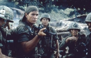 "Scene from the movie, ""Platoon"""