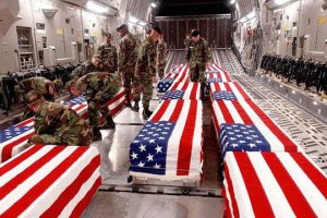 From 1991 to 2009, images of flag-draped coffins of returning war dead were forbidden by the U.S. government