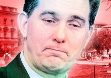 Scott Walker: We don't need no higher education (photo courtesy of Slate)