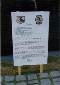 "The Original Poem on ""Guilt"" at the Vietnam War Memorial"