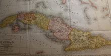 Map of Cuba (1897), when Americans were turning their interest to an overseas empire