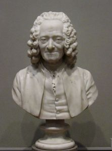 Voltaire, always ready with a contrary perspective