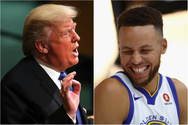 Donald-Trump-Stephen-Curry
