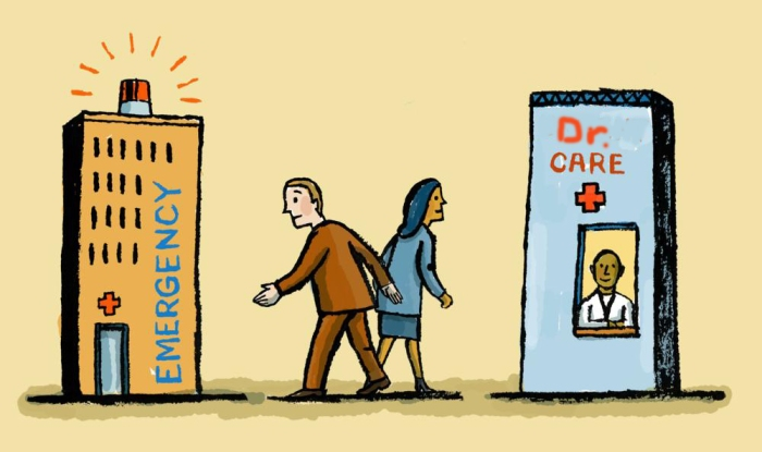 primary care vs. emergency care