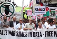 Jeremy Corbyn protest Israel in Gaza