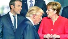 Europe shruggles at Trump Macron