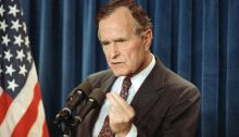 George H. W. Bush war hawk