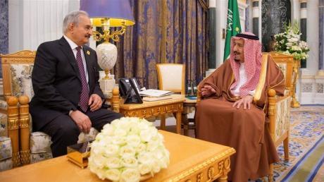 Haftar Salman meeting